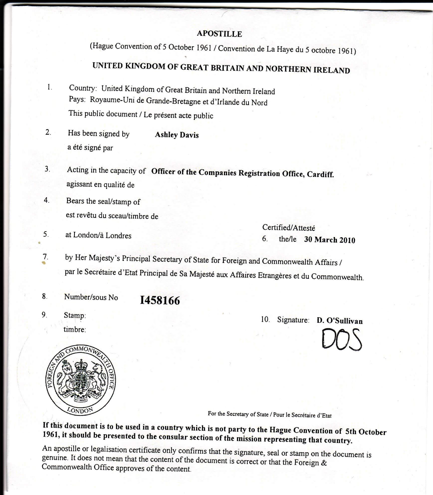 Apostille Certificates - A Brief Guide