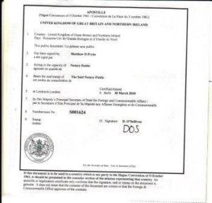 Square Apostille Certificate