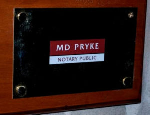 Notary Public in London plaque