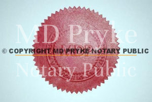 Notary seal used by London Notary Matthew Pryke